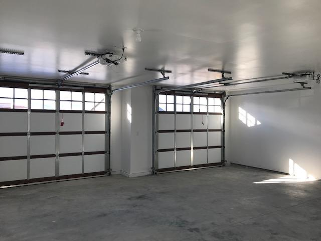 Large attached double car garage